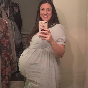 Pink blush maternity dress